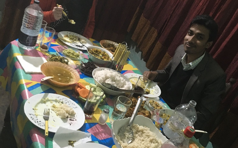 Dinner party, Sylhet, Bangladesh, February 2020