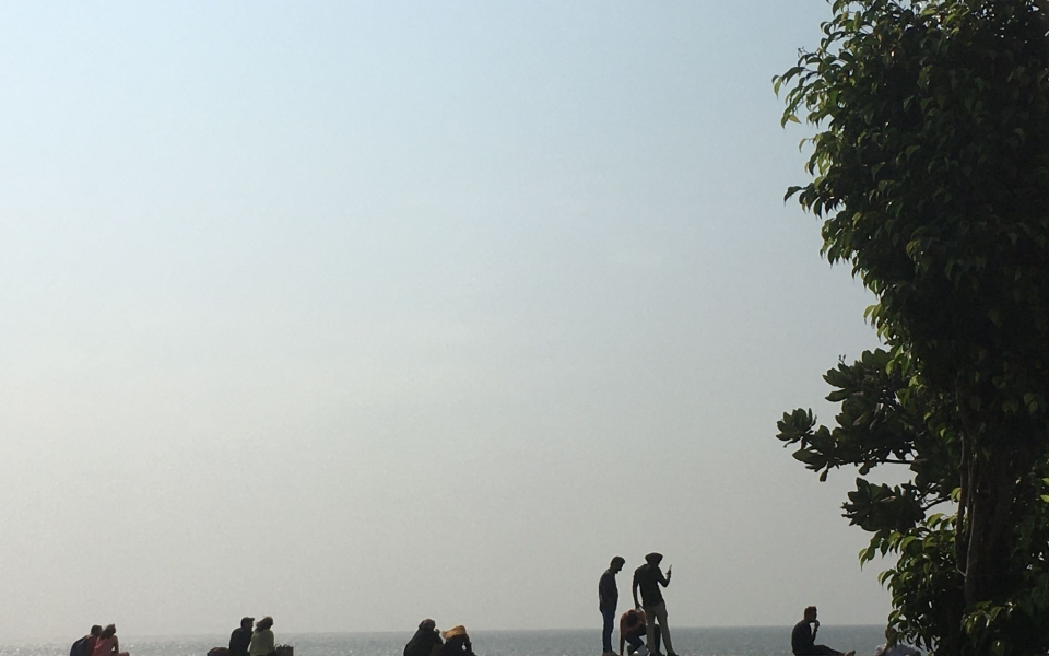 Marine Drive, Bombay, India. February 2020