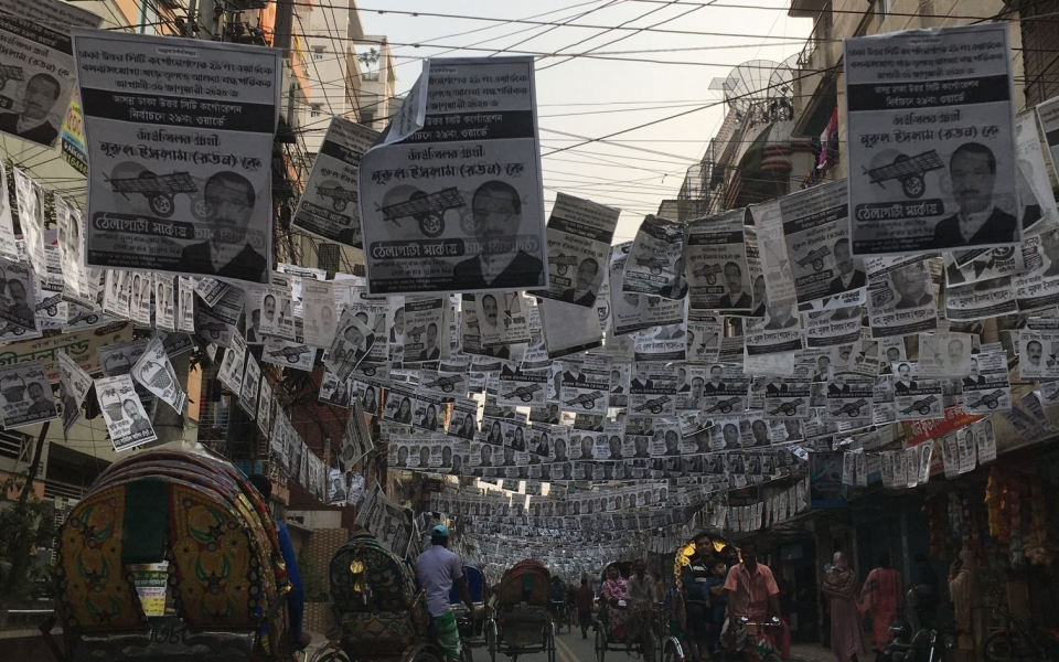 Mayoral Election Posters, Dhaka, Bangladesh, January 2020
