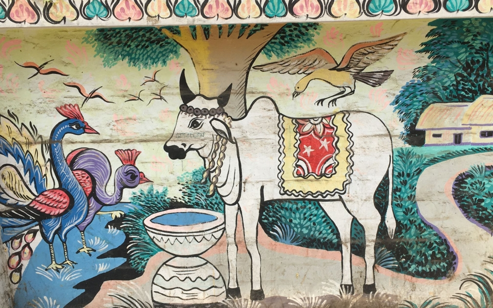 Murals, Dhaka university ext. Dhaka, Bangladesh. January 2020