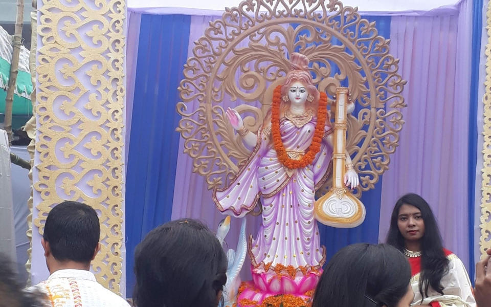 Saraswati Puja, Dhaka University. Dhaka, Bangladesh, January 2020