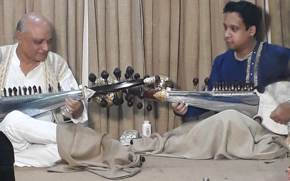 Sarod concert at BSK. Dhaka, Bangladesh, January 2020