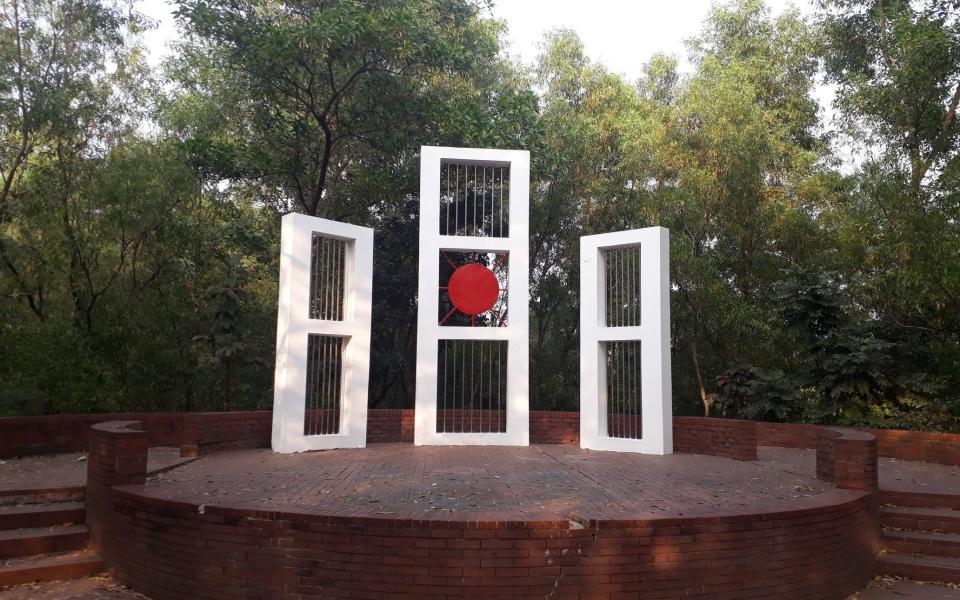 Shaheed Minar, Shahjalal University Campus. Sylhet, Bangladesh, February 2020
